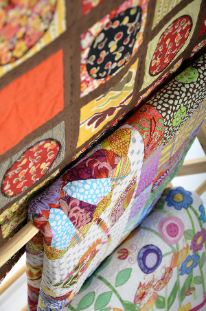 Quilts made by Sue Miller from fabric sold though Fabric Garden