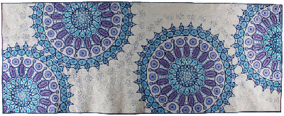 Best in Show at this year's AMQAS: Metlyene Blue Mandalas, quilted by Katherine Jones